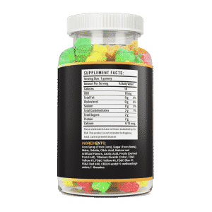 1000mg 60 count hemp gummy bear vite leaf supplement facts