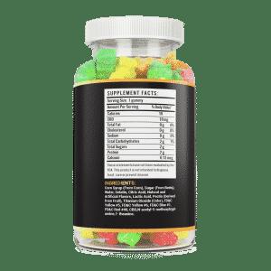 500mg CBD 30 count hemp gummy bear vite leaf supplement facts